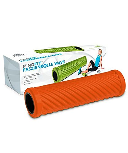 PINOFIT FASZIENROLLER Wave die Schlaue Massage- und Therapie-Rolle Orange -Incl. Microfaser-Reinigungstuch von Carmesin