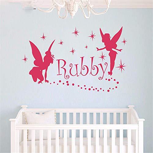 Wandaufkleber Kinderzimmer Feen Gngel Kleid Sterne benutzerdefinierten Namen Dekoration Aufkleber Wohnkultur für Mädchen Kinderzimmer Wand