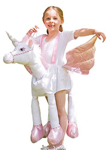 Confettery - Mädchen Karneval Kostüm Einhorn , Weiß, 98-128, 3-8 Jahre