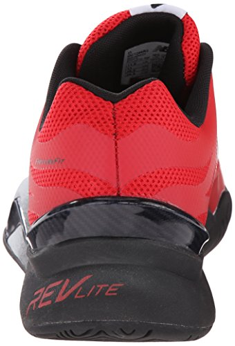 New Balance Men's 1296v2 Tennis Shoe, Red/Black, 10 D US Red/black