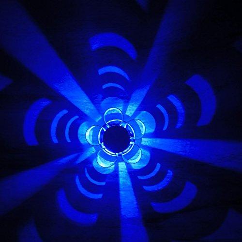 Aplique de pared LED Lámparas decoradas interiores Iluminación de techo Luces nocturnas 3W AC85-245V Azul