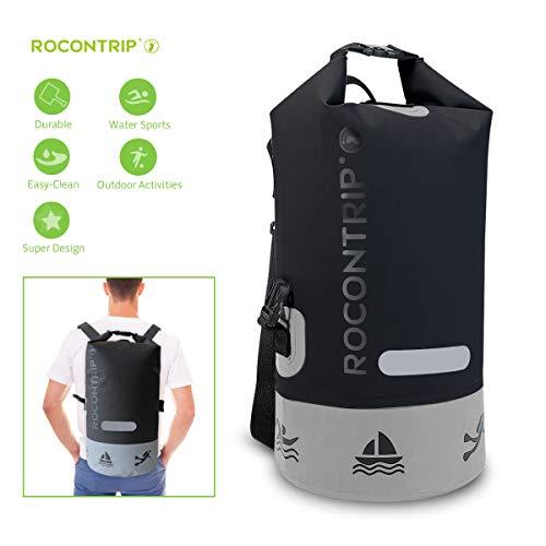 ROCONTRIP Borsa Impermeabile Premium, Sacco con Tracolla Regolabile Lunga Inclusa, Perfetta per Kayak Canottaggio Canottaggio Pesca Rafting Nuoto Camping Snowboard