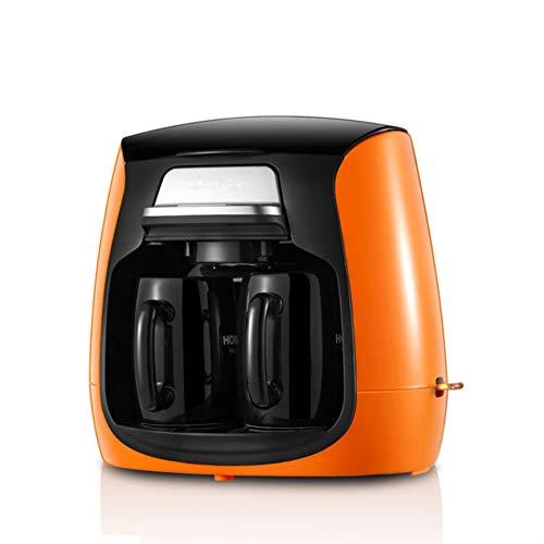 HSSKK Cafeteras Cafetera Máquina de café Americana Completamente automática con cafetera Doble para la máquina de café de la Oficina,Orange