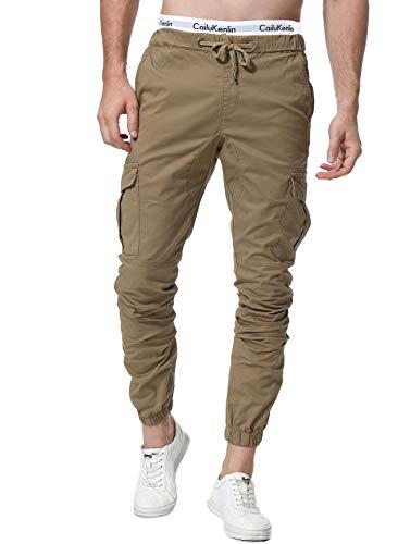 ZOEREA Pantalones Hombre Casuales Deporte Elásticos