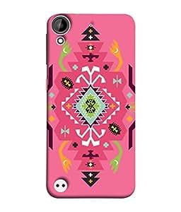 HTC Desire 530 Back Cover Multicolour Rangoli Design From FUSON