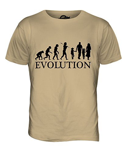 CandyMix Glückliche Familie Evolution Des Menschen Herren T Shirt Sand