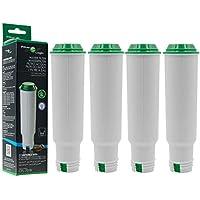 4x FilterLogic CFL-701B ersetzen Krups F088 Claris Aqua Filter / Melitta Pro Aqua Wasserfilter / Nivona NIRF-700 Filterpatrone für Kaffeevollautomat