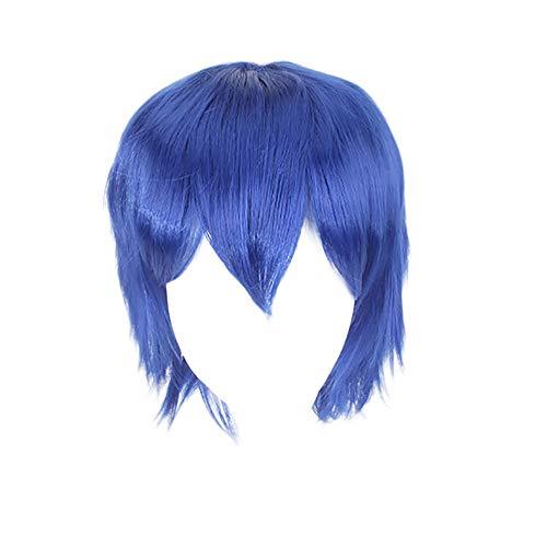 TIREOW Mehrfarbig Perücke Short Glattes Haar Anime Party Cosplay Volle Verkauf Perücken (Blau) (Blaue Perücken Für Verkauf)