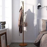 Piso De Pie Simple Percha Nordic Coat Rack Dormitorio Madera Moderna Bolsa Rack (5 Ganchos),Chrome - Comparador de precios