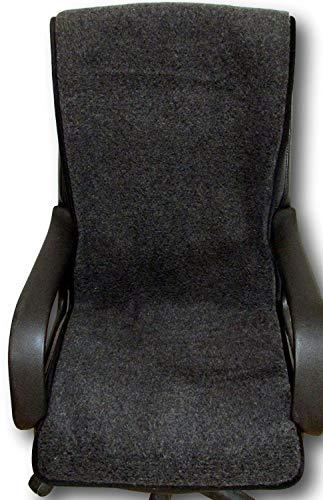 Sesselschoner anthrazit 100{c8df441ca3fdc2e9b89dc710fa8f0d632fea4ec784be1ec30682ce8e59758a08} Merinowolle 50x200cm, Sitzauflage, Sesselüberwurf, Überwurf, Sesselauflage