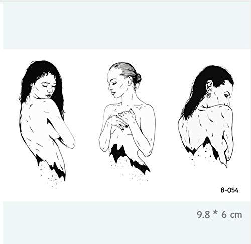 ruofengpuzi Sexy Frau körper Mund Pistole Auge wasserdicht temporäre tätowierung Aufkleber Erwachsene körperkunst gefälschte tätowierung weibliche tätowierung