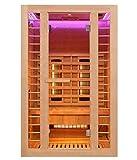 Home Deluxe - Infrarotkabine - Redsun M Deluxe - Vollspektrumstrahler und Karbon-Flächenstrahler - Holz: Hemlocktanne - Maße: 120 x 105 x 190 cm - inkl....