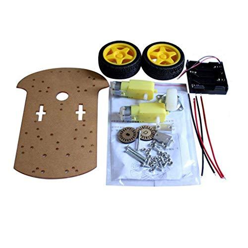 Praktische intelligente Roboter-Auto Chassis Kit Geschwindigkeit Encoder Batteriebox Universal-Wheel Set Kompatibel für Arduino Florallive