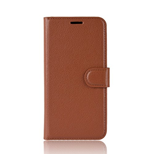 casefirst , Alcatel 1X Case Wallet Leather, Alcatel 1X Case with Card Holder and Kickstand, Alcatel 1X Wallet Case with Protective Skin, Protective Skin Case Cover for Alcatel 1X Brown