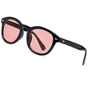 SHEEN KELLY Occhiali da sole stile mod DEPP ICONIC Johnny Depp uomo donna VINTAGE unisex rotondi lente blu colorate 1 spesavip
