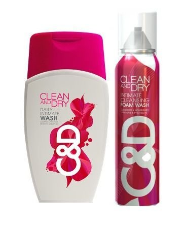 Clean And Dry Daily Intimate Cleansing Foam Wash & Daily Intimate Wash Combo