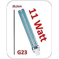 UVC Estanque de casquillo G23, 11W, compatible F. T.I.P. PMA 16000UV 13. 25,5cm de largo