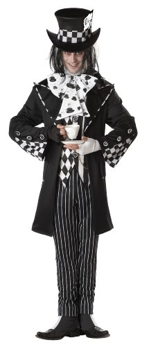 MenS Dark Mad Hatter Halloween Costume Adult (Kostüm In Men Black Halloween)