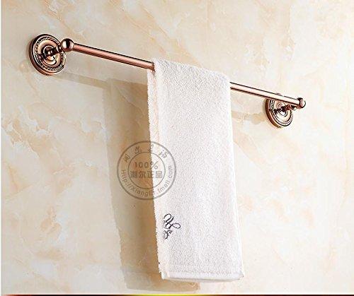 XIAOMIN Portasciugamani oro rame a muro 630 * 80mm (25 * 3 pollici) di rosa bagno Accessori Asciugamano Rack rame contemporaneo - Ottone 3 Pollici Casa Numero
