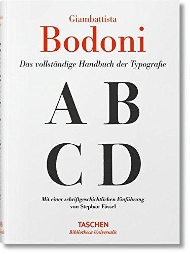 Giambattista Bodoni. Handbuch der Typografie Buch-Cover