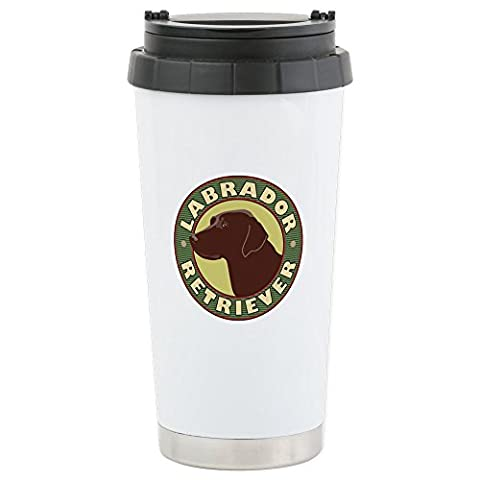 CafePress - Chocolate Lab Crest - - Stainless Steel Travel Mug, Insulated 16 oz. Coffee & Tea