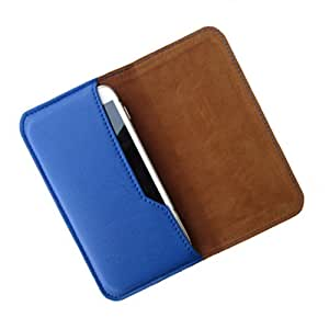 i-KitPit : PU Leather Flip Pouch Case Cover For Lava Xolo A500L (BLUE)