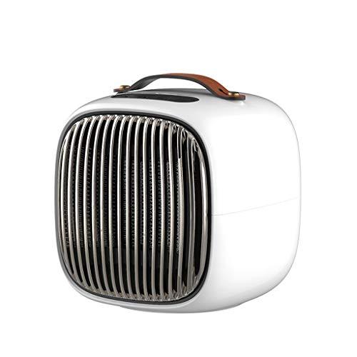 800W PTC Keramik Platz Heizung, Elektrisch Mini Persönlich Heizung Ventilator Mit Auto Schwingung Ausgestattet Mit Überhitzen (Farbe : Weiß) (Auto Elektro-kamin)