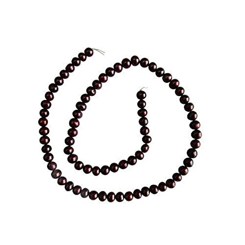 Purple Red Freshwater Potato Round Pearl Beads Loose String 16 inches 5/6mm diameter for jewellery making