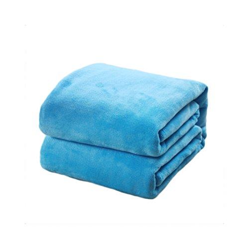 HomeMiYN Flanell Fleece Bettdecken Super Soft Werfen Sofa Luft Decke warme thermische Schlafzimmer Abdeckung für Trail Travel Couch Camping