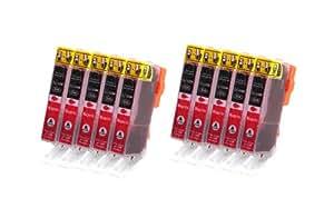10x CLI-526 Magenta Tintenpatronen mit Chip kompatibel zu Canon für Canon IP4950 IP4850 MG5340 MG5250 MG5350 MG6250 MG8120 MG8240 MG6150 MG8250 MG5150 MG6120 MG5200 MG8150 MX885 MX715 MX884 MX895 IX6550