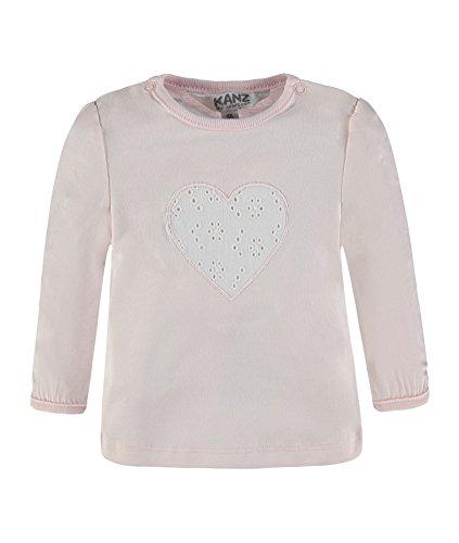 Kanz Mädchen T-Shirt 1722073, Rosa (Barely Pink 2560), 80 (Rosa Herz-shirt)