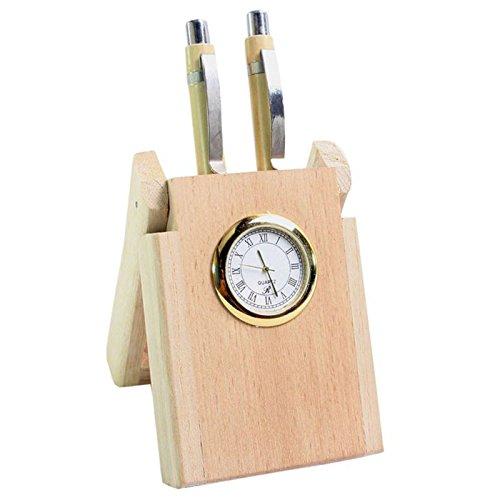 Stand de stylo de cum 2 en bois de montre, parfait pour le bureau de n bureau de bureau, support de stylo de bureau., Jour de Pâques / fête des mères / cadeau de vendredi bon