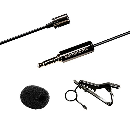 Saramonic International Lavalier-Revers-Clip-on Omnidirectional Kondensator-Mikrofon für Apple iPhone/iPad/iPod Touch/Android/Windows Smartphones