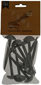 OLPro Ground Sheet Pegs - Grey, 10 Pack