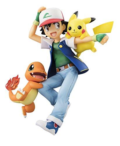G.E.M. series Pokemon Ash Ketchum & Pikachu & Charmander About 10cm PVC-painted FigureMegaHouse
