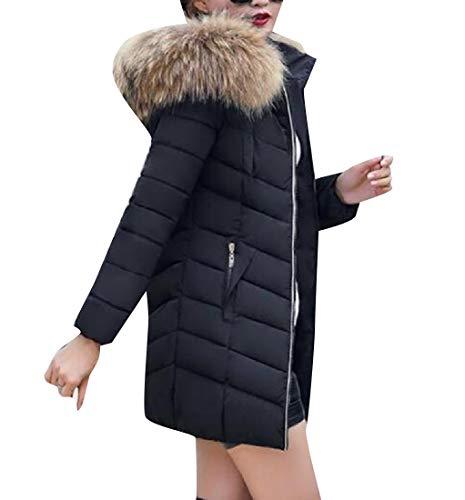 CuteRose Womens Plus Size Slim Casual Warm Parka Jacket Coat Black XL - Oshkosh Fleece Hoodie