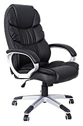 SONGMICS Bürostuhl Chefsessel Drehstuhl Computerstuhl SGS EN12520 Sitzhöhenverstellung office Stuhl Polsterung OBG24B