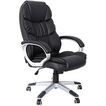 Sedia ufficio poltrona ufficio sedia da scrivania in nero for Sedia da ufficio amazon