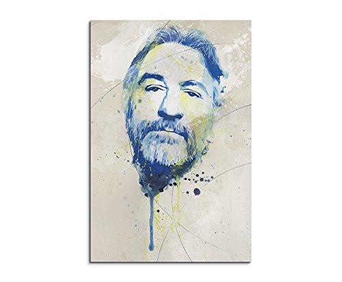 Preisvergleich Produktbild Paul Sinus Art Robert_De_Niro_II_Aqua_90x60cm Wandbild Leinwand, 90 x 50 x 3 cm, mehrfarbig