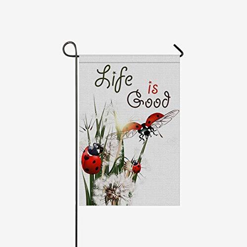 ArneCase Garten Flagge Doppelseitig Bedruckt Funny Flamingo in Sonnenbrille 71,1x 101,6cm Home Deko Hello Summer Floral Kranz Einzigartige House Banner Outdoor Flagge Yard Decor 12x18inch Multi 14