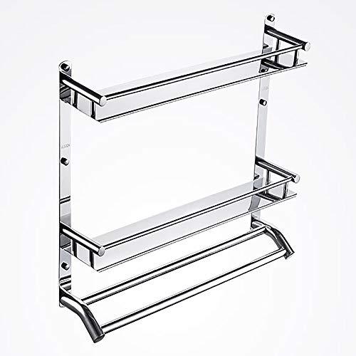 XSJJ Badezimmer-Regal-Toiletten-Speicher-Zahnstangen-Handtuchhalter Punsch-freier Edelstahl-Rahmen-Toilettenartikel-Vollenden-Rahmen-kosmetische Speicher-Regal-Zahnbürsten-Patronen-Halter-wahlweise fr