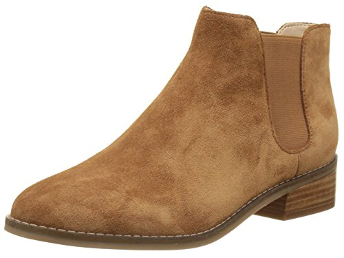 Buffalo London Damen 416-5201 Cow Suede Chelsea Boots, Braun (Tan 01), 39 EU