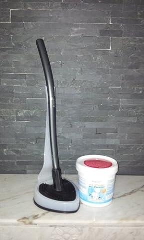 proWIN Toilettenbürste V7 - WC Cleaner - anthrazit/Frostweiß - Herzilein - + 1KG Active Orange