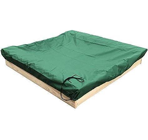 tapis b/âche Bac /à sable bois 120x120 cm