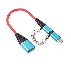 SO-buts Universeller Micro-2in1-USB-Stecker (Typ C) auf USB 2.0-Buchse Adapterkonverter (Blau)