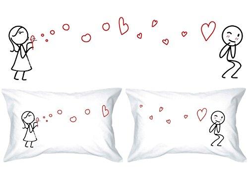 Human touch, le bolle di amore ii - lui & lei - federe - il romantico regalo di anniversario eccentrico, regalo di nozze, regalo di san valentino, o semplicemente per sollevare un sorriso.