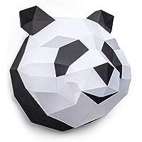 ORIGADREAM Panda Papercraft en Kit 3D à assembler soi-même, Papier cartonné épais 300g PRÉ-COUPÉ