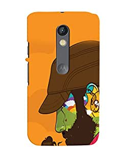 PRINTVISA Swag Beard Man Case Cover for Motorola Moto X Play