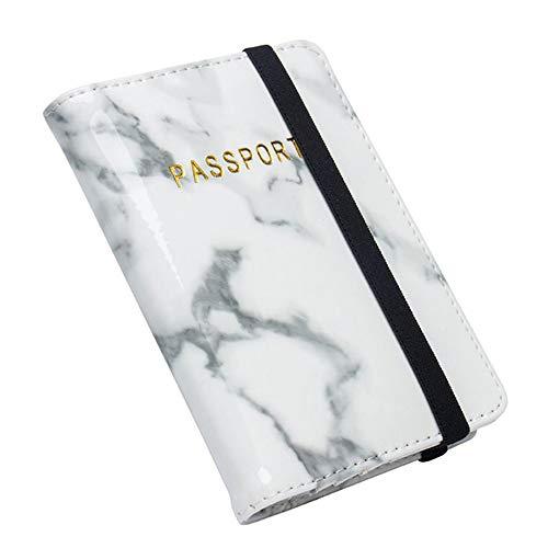 SDZCKAY Marmor Passport Travel Leder Veranstalter Inhaber Card Protector Cover Wallet