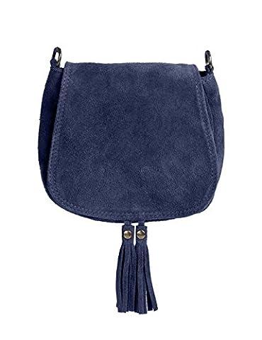 Ledertasche dunkel blau klein Lederhandtasche Umhängetasche Fransen echt Leder Tasche Wildleder Handtasche Vintage Damen 5-bue